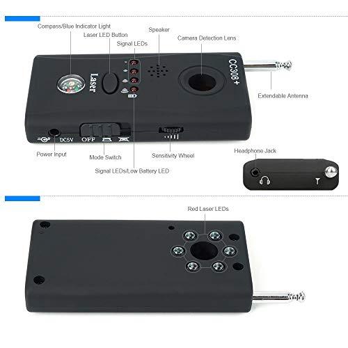 HOHOPROV RF Signal Detector, Anti-Spy Detector Wireless Hidden Camera Detector Bug Detector Spy Camera Finder