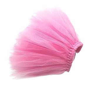 Zadaro Pet Dog Cat Puppy Princess Tutu Dress Party Skirts Clothes Costume Apparel (Pink, M)