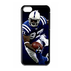 NFL iPhone 5c Black Cell Phone Case Indianapolis Colts PNXTWKHD0130 NFL Phone Case Cover Custom Plastic