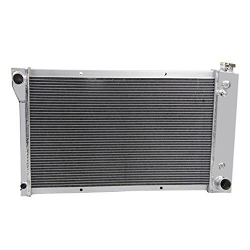(OzCoolingParts Pro 67-72 Chevy GMC C/K Series Radiator, 4 Row Core Aluminum Radiator for 1967-1972 Chevrolet GMC C10 C20 K10 Pickup Suburban Truck and More Models)