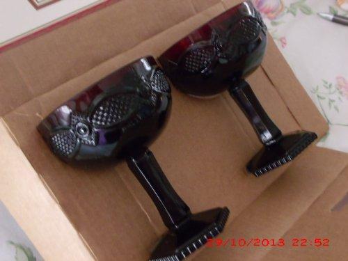 1876 Cape - Vintage Avon 1876 Cape Cod Saucer Champagne Glass Set of 2 in Original Box