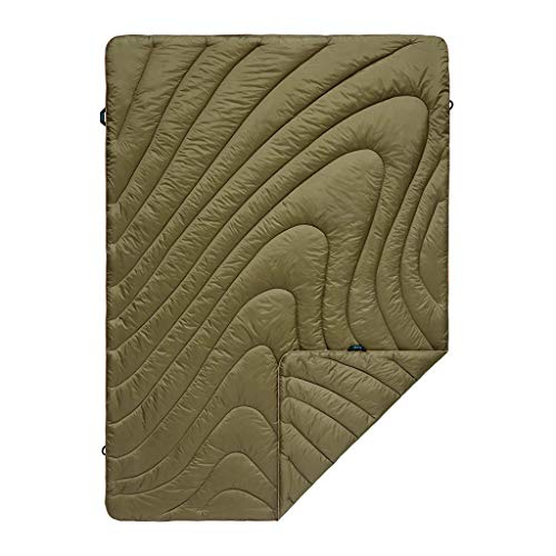 Rumpl The Original Puffy | Outdoor Camping Blanket for Traveling, Picnics, Beach Trips, Concerts | Burnt Olive/Cardiff Brown, Throw