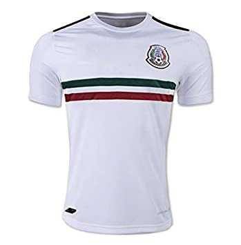 7fe1073f4f9 2017 2018 Mexico National Football Team Away Soccer Jersey New Season  Sportwear Kit In White: Amazon.co.uk: Sports & Outdoors