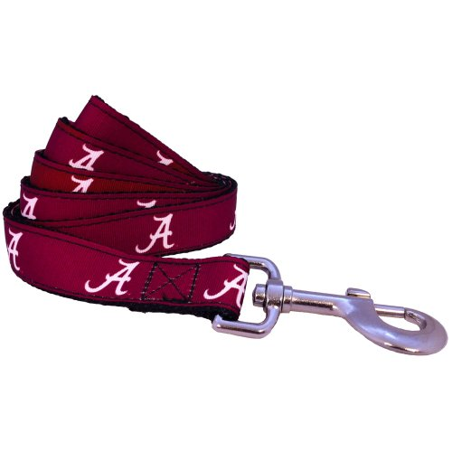 NCAA Alabama Crimson Tide Dog Leash (Team Color, Small)
