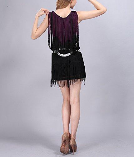 Fringe Flapper 20s Black Halloween Dance Girls Dresses Costume 1920S black Beading Red Purple qZwxRq61H