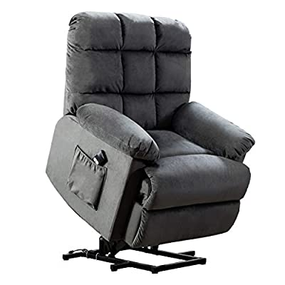 ANJ Power Lift Recliner Chair for Elderly with Over Stuffed Armrest and Comfort Broad Backrest, Remote Control for Gentle Motor