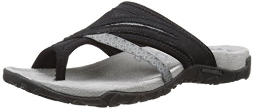 (Merrell Women's Terran Post II Sandal, Black, 9 M US)