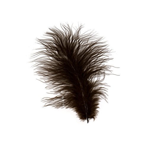 ZUCKER Turkey Marabou Loose Dyed Feathers - Brown