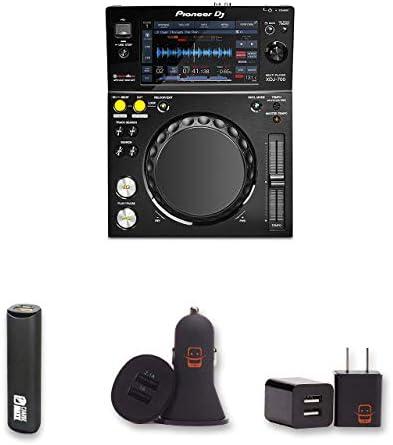 Pioneer Pro DJ XDJ-700 Digital Multi Media Player Bundle with PowerBank USB Car Charger USB Wall Charger 4 Items