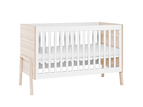 Modern Toddler Cot Bed - Little Guy Comfort Spot Children's Convertible 3 in 1 Crib and Youth Bed