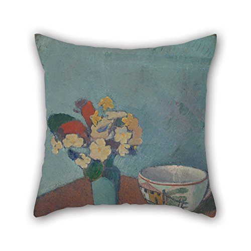 Elegancebeauty 16 X 16 Inches / 40 By 40 Cm Oil Painting Émile Bernard - Vase With Flowers And Cup Cushion Covers,each Side Is Fit For Outdoor,sofa,car,living Room,kids Room,kitchen