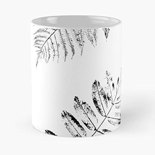 Silhouette Floral Wallpaper - Ash Vector Tree Floral - 11 Oz White -coffee Mug- Unique Birthday Gift-the Best Gift For Holidays.