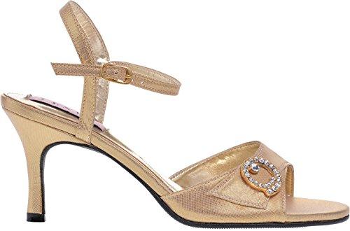LEXUS - Sandalias de vestir para mujer dorado - dorado