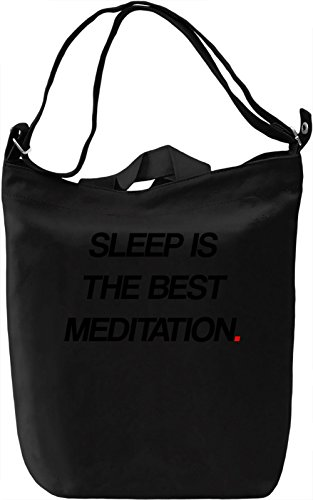 Sleep is meditation Borsa Giornaliera Canvas Canvas Day Bag| 100% Premium Cotton Canvas| DTG Printing|
