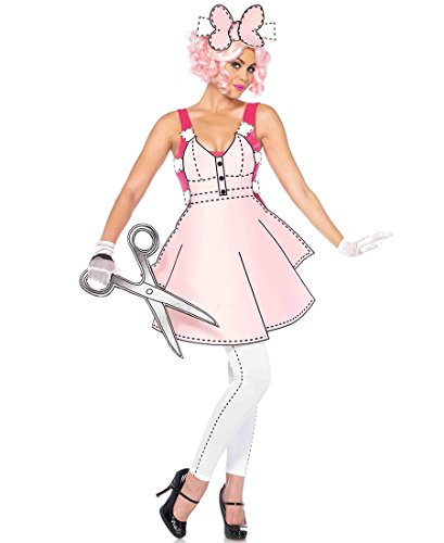 Paper Doll Halloween Costume For Adults (Leg Avenue Pretty Paper Doll Halloween Costume - Pink/White - S)