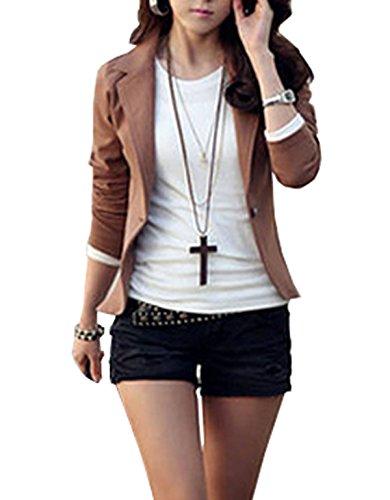 Kize Womens Sleeve Buttoned Blazer