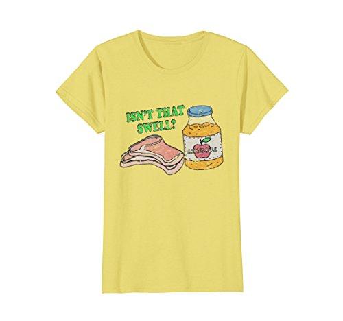 Womens Funny Pork Chops and Applesauce Retro Vintage T-shirt Medium (Chop Sauce)