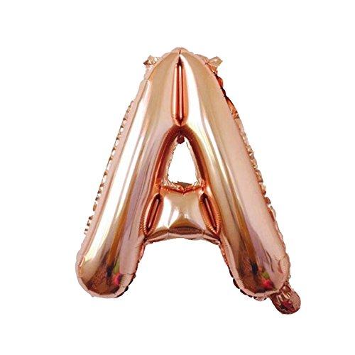 Amazon.com: Yalulu - Globos de letras de oro rosa con texto ...