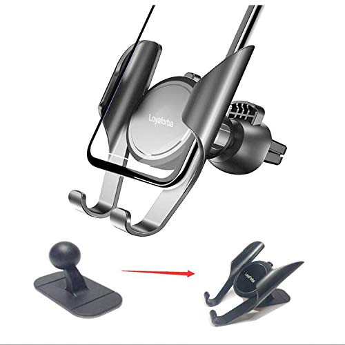 LoyaForba 3 in 1 Car Phone Mount,360 Degrees Universal Air Vent Car Mount Holder for Windshield,Car Phone Holder Dashboard, Fit Well GPS Navigation Compatible with All Smartphones