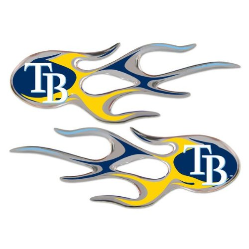 MLB Tampa Bay Rays Micro Flame Graphics Decal (Pack of 2)