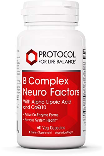 Protocol For Life Balance - B Complex Neuro Factors - with Alpha Lipoic Acid & CoQ10 to Support Nervous System Health, Proper Metabolism of Carbohydrates, Fats, and Proteins - 60 Veg Capsules