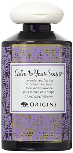 Origins Calm To Your Senses Lavender and Vanilla Oil For Bath & Body 150ml/5oz