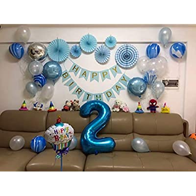 Tellpet Blue Number 2 Balloon, 40 Inch: Toys & Games