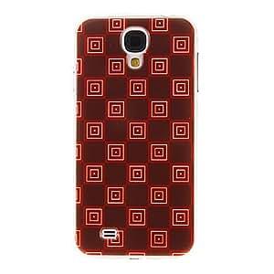 GONGXI-Modelo rojo oscuro suelo Rejillas cubierta del estuche duro de protección de plástico para el Samsung Galaxy S4 i9500
