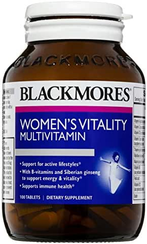 Blackmores Womens Vitality Multi - 100 Tablets - Supports Well-Being, Boosts Energy Production, Healthy Stress Response, Maintain Balanced Mood
