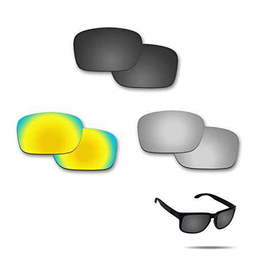 Fiskr Anti-saltwater Polarized Replacement Lenses for Oakley Holbrook 3 Pair - Salt Optics