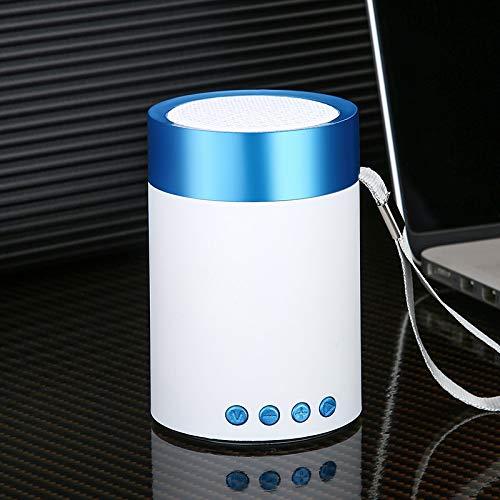 ポータブルワイヤレスBluetoothスピーカー サブウーファーと高精細サウンド 携帯電話 コンピュータ用 音楽再生 ブルー 1694606872  ブルー B07RWBG424