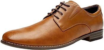 Vostey Dress Formal Oxford Shoes Classic Lace Up Derby Men's Shoes