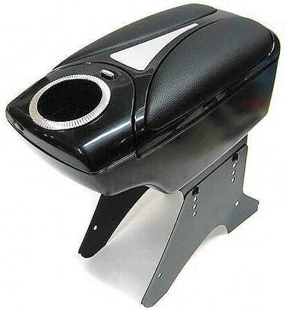 Noir Porte-gobelet Accoudoir de voiture universel 48011 Console centrale Bo/îte de rangement En simili cuir