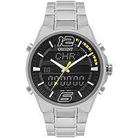Relógio Masculino Orient Anadigi Mbssa047 Pysx Prata
