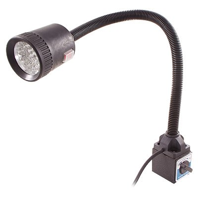 "HHIP 8401-0445 LED Goose Neck Work Light on Magnetic Base, 18 1/2"" Flexible Shaft"