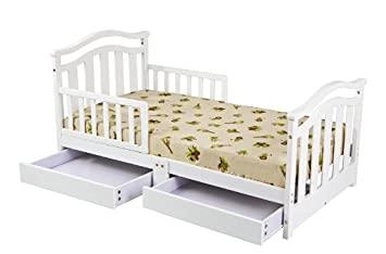 Dream On Me Elora Collection Toddler Bed With Storage Drawer White Discontinued By Manufacturer