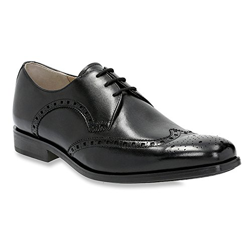 Clarks Amieson Grenze Oxfords Schuhe Black Leather