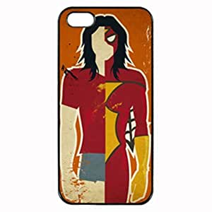 RETRO MARVEL DC CHARACTER ~ Fashion Durable Unique RUBBER Durable Case Cover Skin for Apple iPhone 5 5S - Black Silicone Case / ABCone Tpu Protective 5/5S Case
