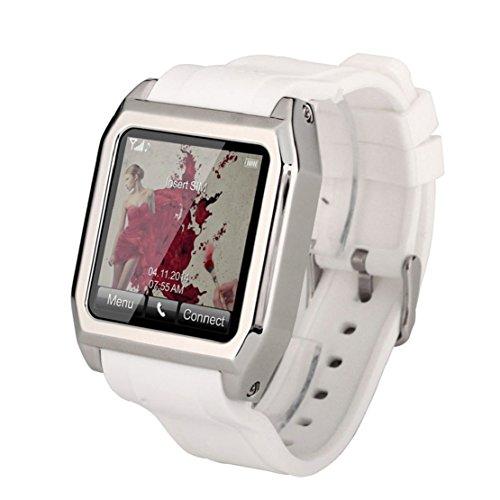 Towallmark(TM)Bluetooth Smart Wrist Watch Phone Touch Screen SIM TF Card For Android IOS (White)