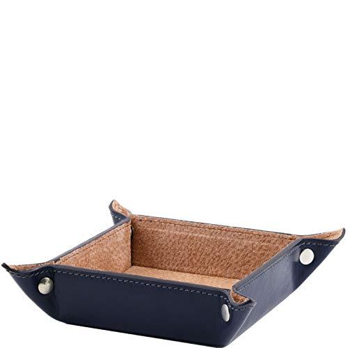 Esclusivo Tuscany Blu In Misura Pelle Piccola Vuotatasche Leather aq5gv