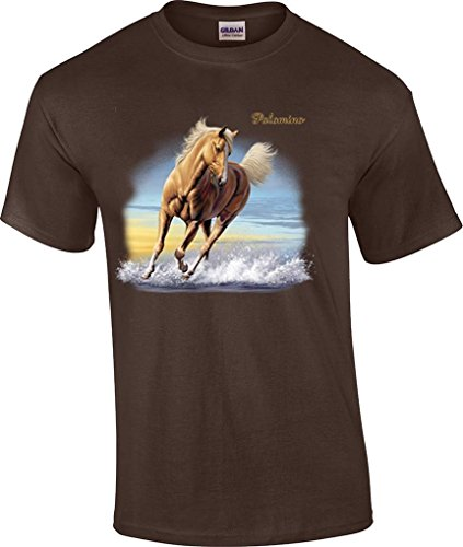 T-ShirtQueen Men's Palomino Horse T-Shirt XXXX-Large Brown