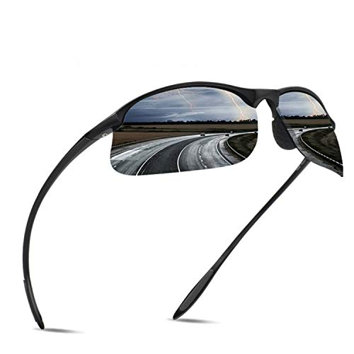 JULI Polarized Sports Sunglasses for Men Women Tr90 Unbreakable Frame for Running Fishing Baseball Driving ()