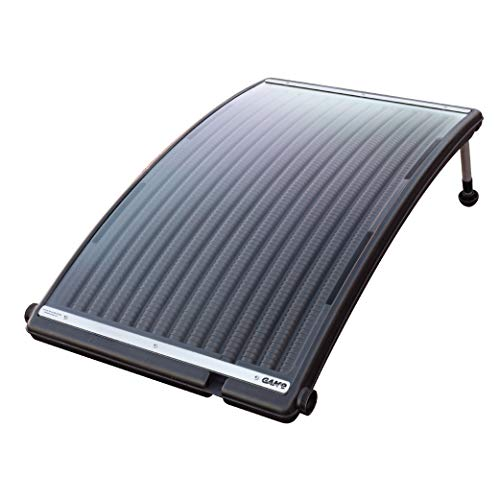 GAME 4721-BB SolarPRO Curve Solar Pool Heater, Made for Intex & Bestway Above-Ground and Inground Pools, Includes Intex Adapters, 2 Hoses & Clamps ()