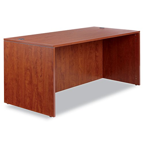 Valencia Series Desk Shell, Medium Cherry, 66w x 30d x 29-1/2h (ALEVA216630MC) - Valencia Series Desk Shell