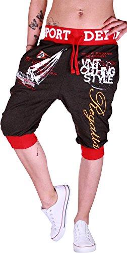 Glowinko - Pantalón corto deportivo - para mujer antracita