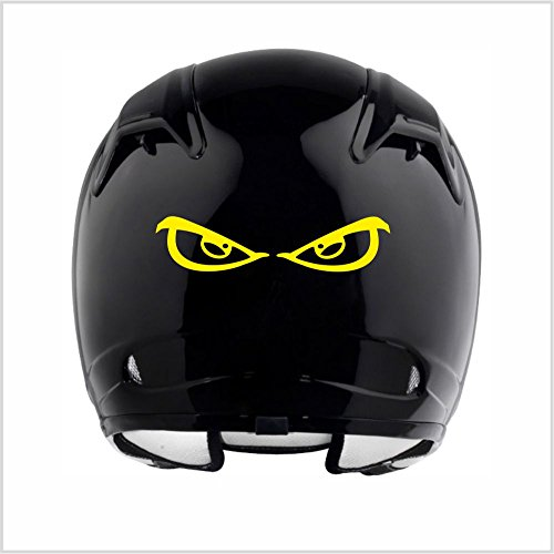 Everything Graphix Evil Eyes No Fear Motorcycle Biker Helmet Reflective Decal Sticker M3 5 1/2