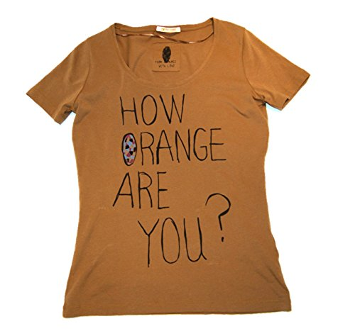 BOSS ORANGE T-SHIRT TEULE FARBE BRAUN 230