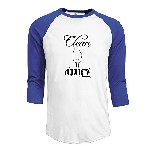 Dishwasher Dirty Clean Men's Offensive Casual 3/4 Sleeve Raglan T