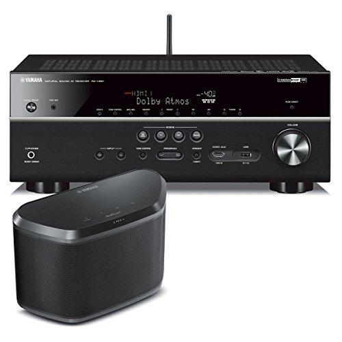 yamaha rx v681 7 2 channel 4k av receiver with wx 030 musiccast wireless speaker black. Black Bedroom Furniture Sets. Home Design Ideas