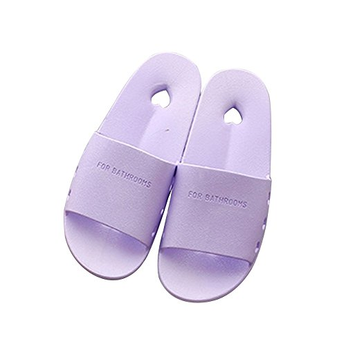 Tellw Uomini E Donne Estate Casa Pantofole Pantofole Antiscivolo Interni Bagno Pantofole Signore Pantofole Perdita Viola